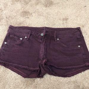 H&M Maroon Denim shorts